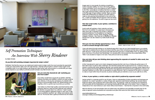 Rinderer Abstract in ARTisSpectrum Magazine – Featured Again